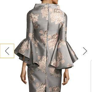 Badgley Mischka Dresses - Badgley Mischka Funnel-Neck Floral Cocktail Dress